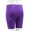 Youth padded Bike Shorts Purple Back