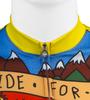 Aero Tech Printed Cycling Jersey Ride for Infinity Zipper Detail