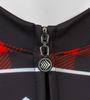 Aero Tech Long Sleeve Brushed Fleece Lumberjack Cycling Sprint Jersey Red Zipper Detail
