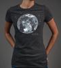 Women's Moon Bike Adventure T-Shirt Front in Action