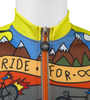 Ride for Infinity Youth Cycling Team Jersey Front Zipper Detail