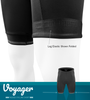 Men's Voyager Padded Cycling Shorts Elastic Detail Panel