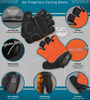 Aero Tech Orange Cycling Gloves Features