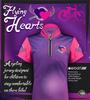Flying Purple Hearts Jersey Background
