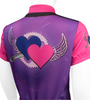 Children's Flying Hearts Jersey Top Off Back
