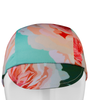 pink roses front view of cycling cap