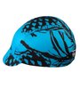 pine cone print in blue and black
