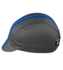 gray with blue stripe cycle hat side view