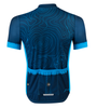 Aero Tech Sprint Jersey Topo Print Beet Blue Back View