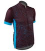 Aero Tech Sprint Jersey Topo Print Beet Root Off Front View
