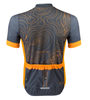 Aero Tech Sprint Jersey Topo Print Gray and Orange Back View
