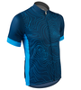 Aero Tech Sprint Jersey Topo Print Beet Blue Off Front View