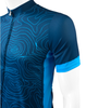 Cycling Jersey Topo Blue Sleeve Detail