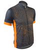 Aero Tech Sprint Jersey Topo Print Gray and Orange Off Front View