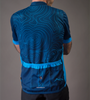 Topo Print Blue Model Back View
