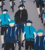 Bike Dude Print Detail