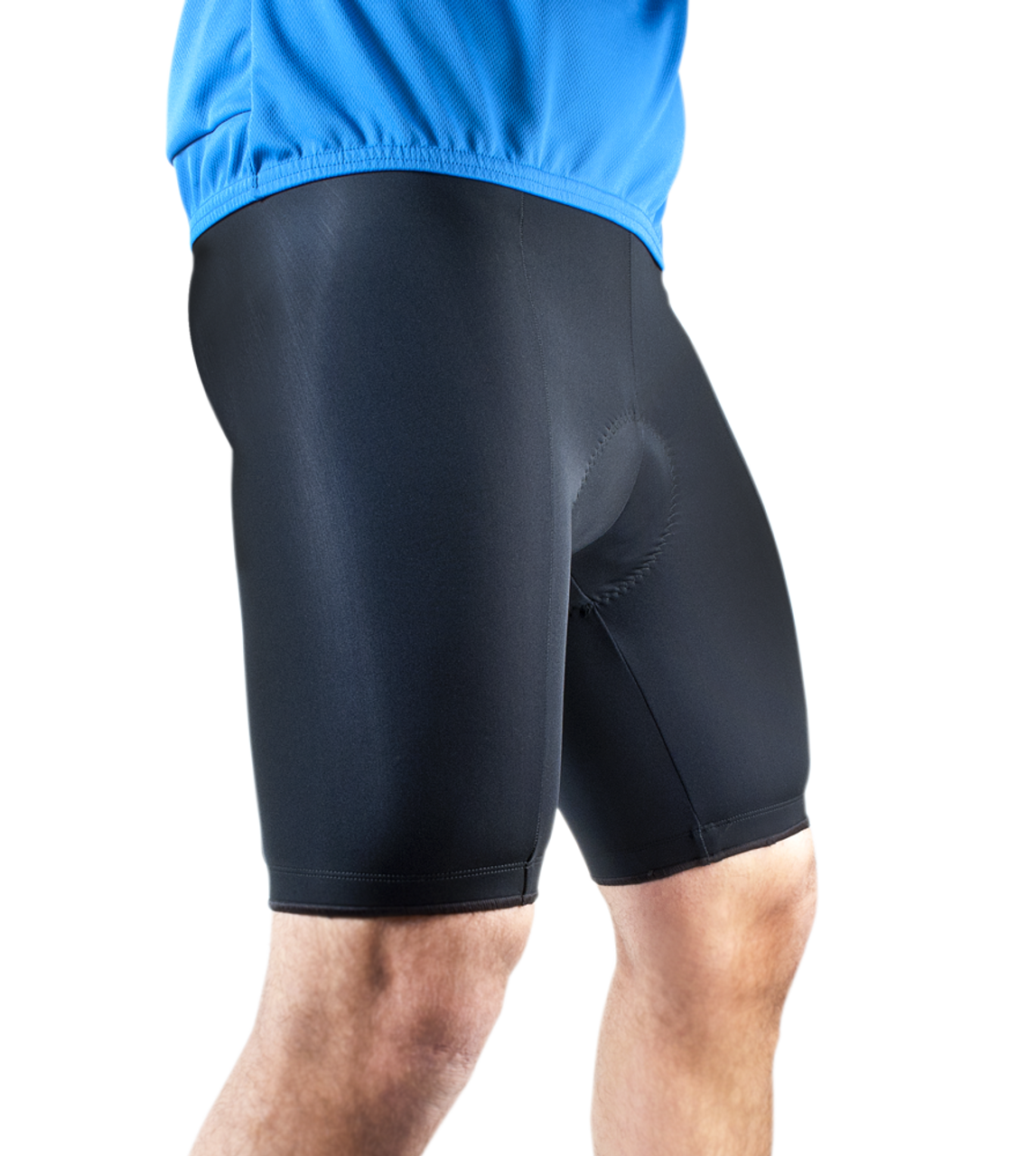 b5066ce0acde Men's Basic Made in the USA Inexpensive Black Padded Cycling Shorts