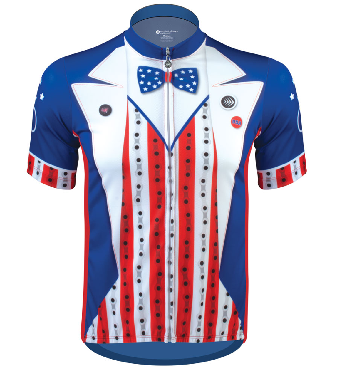 63efd9ec9 Aero Tech Uncle Sam Patriotic Cycling Jersey Made in USA Sprint Jersey Front