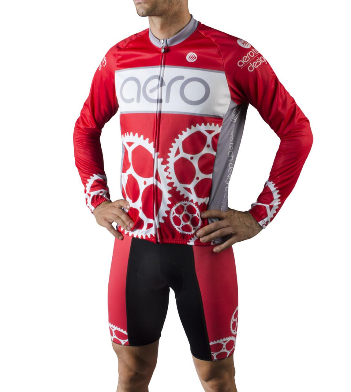 Aero Tech Designs Long Sleeve Eyes On The Road Halloween Cycling Bike Jersey