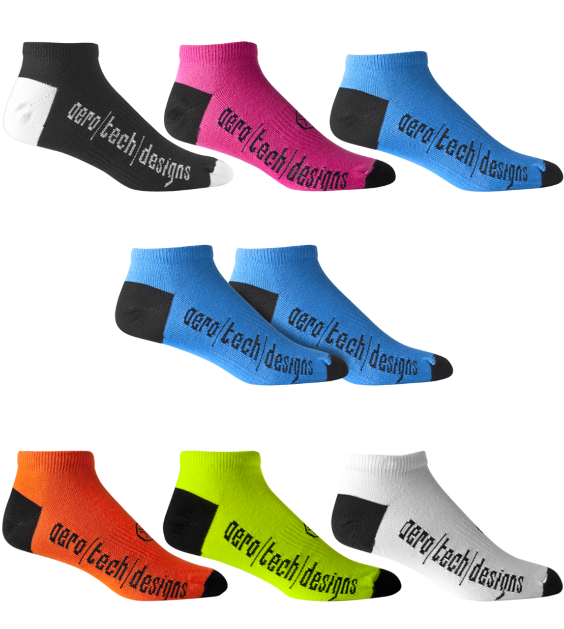 48cbef272 No Show Cycling and Running socks - Mutli-Color CoolMAX USA Made