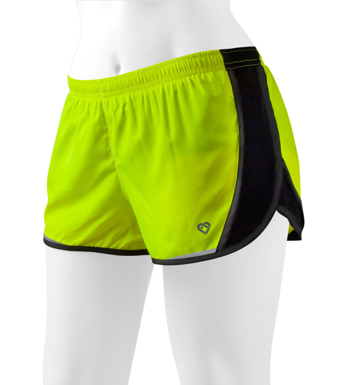c6c0cac1b Women's Safety Yellow Hi-Vis Running Shorts - Breeze by Colosseum