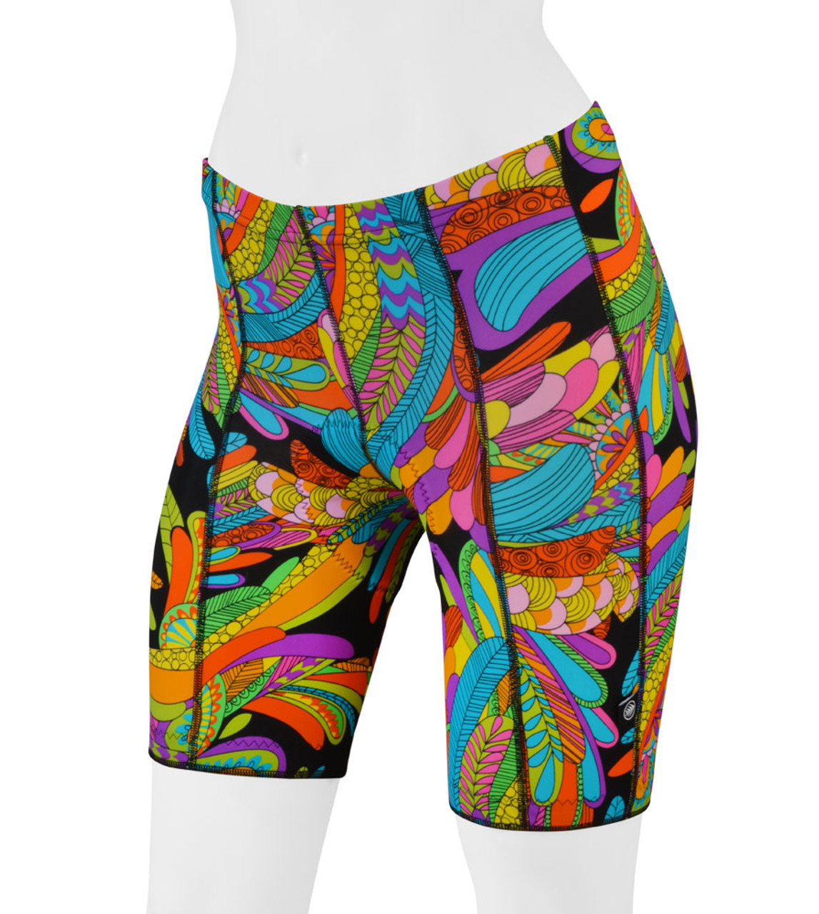 4ae9b36cdaf Women s Hippie Wild Print Pro Padded Bike Shorts - Rio by Aero Tech