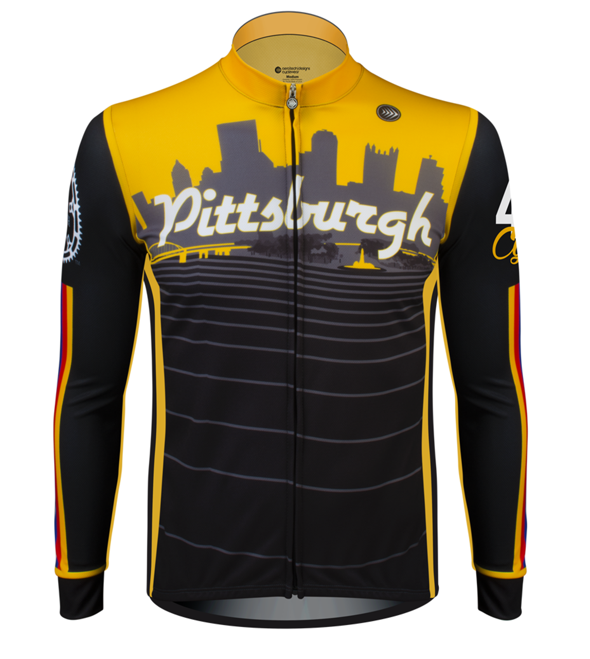 ATD Pittsburgh Long Sleeve Bike Jersey - Made in USA 4f9961a22