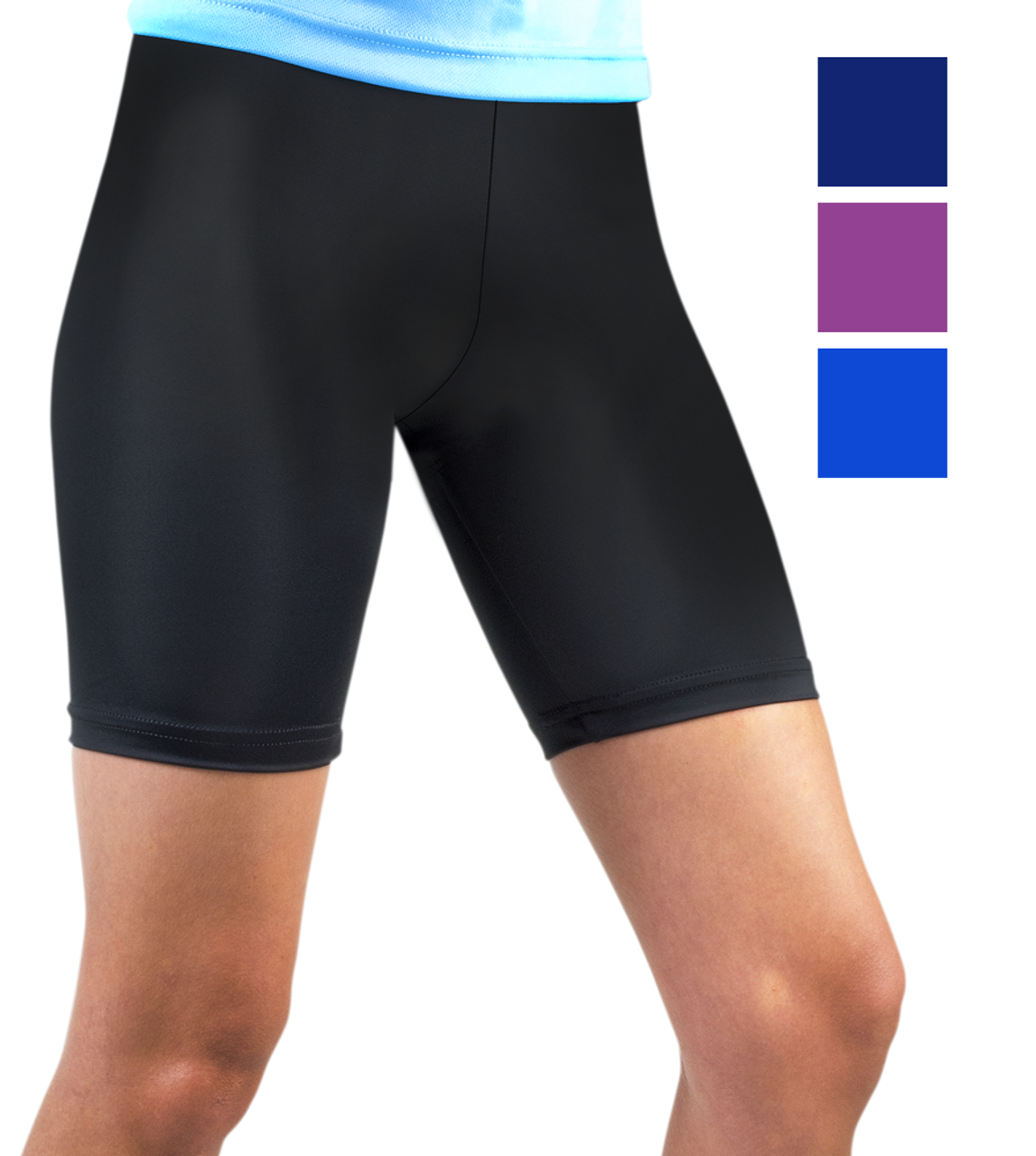 b973c9d93f7d3 Women's Compression Spandex Workout Shorts USA Made Fitness Apparel