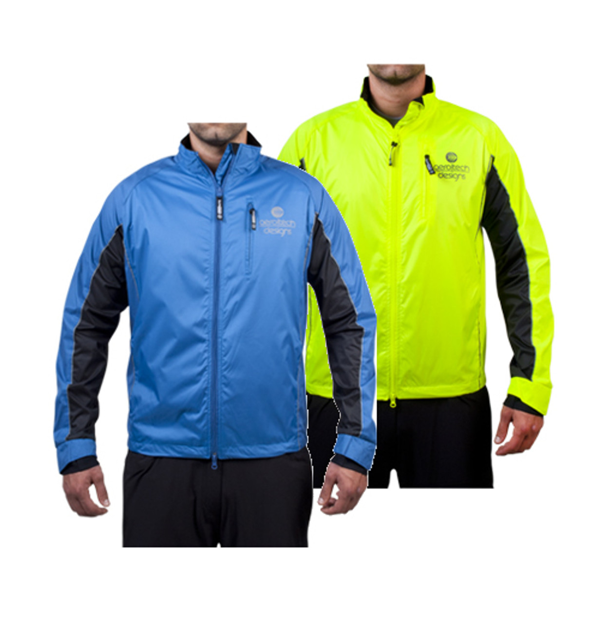 BASIK Windbreaker Jacket Neon Yellow lg Vélo