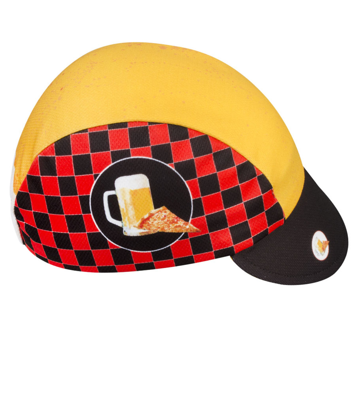 Aero Tech Rush Cycling Caps Pizza And Beer Made In Usa