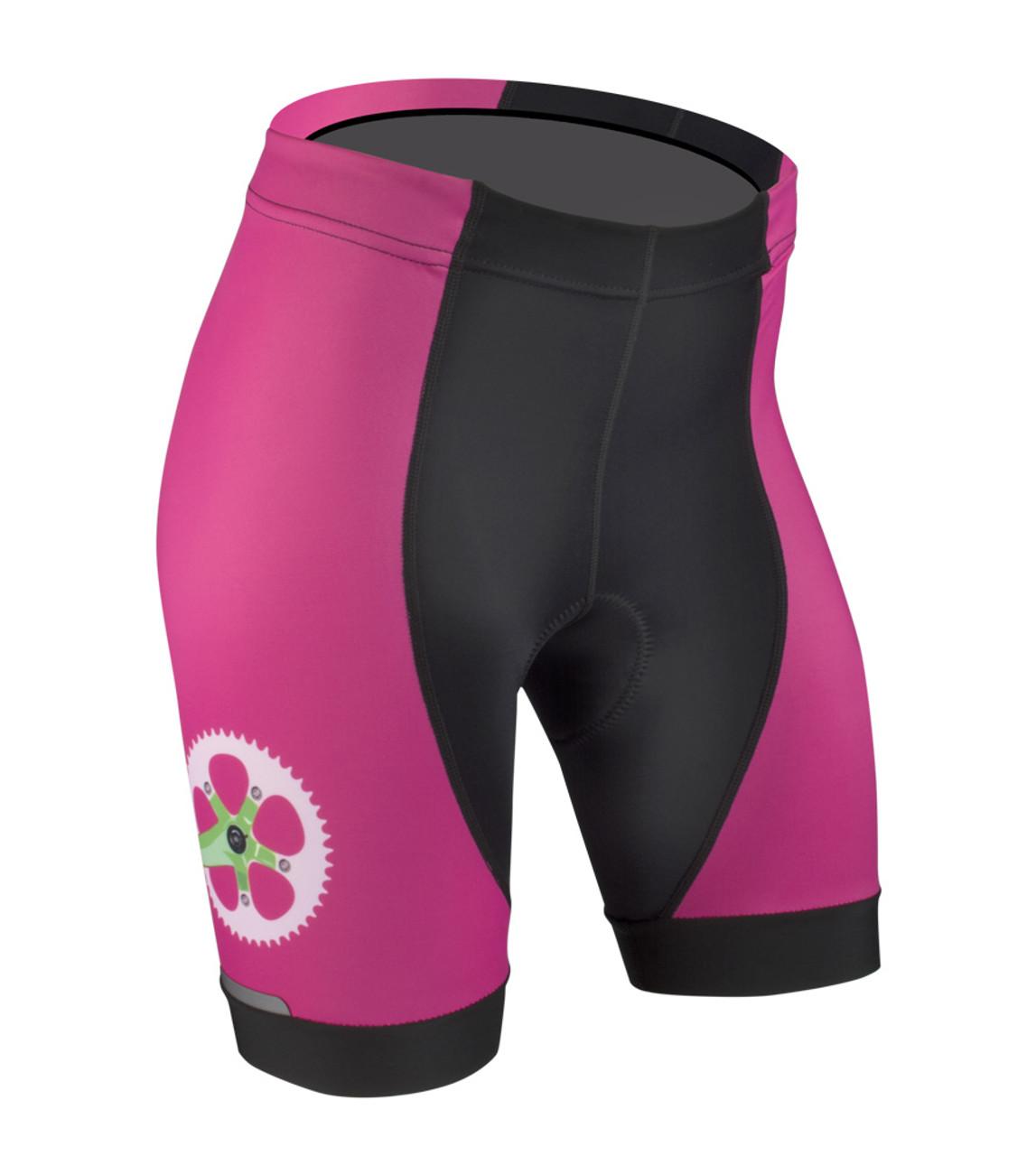 Women s Printed Bike Shorts - Strawbery Fields - Cute Bike Shorts 07d0c1936