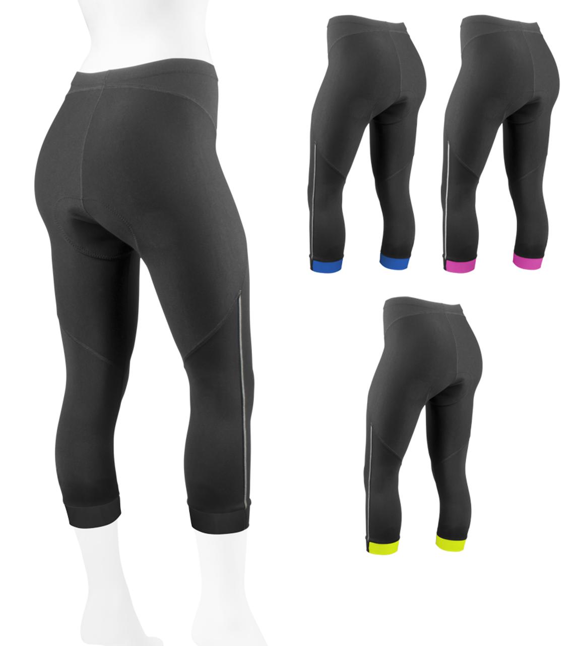e4c8c5eca1 Women's Spandex Capri Pants - Ideal for running, Yoga, Zumba, Soccer