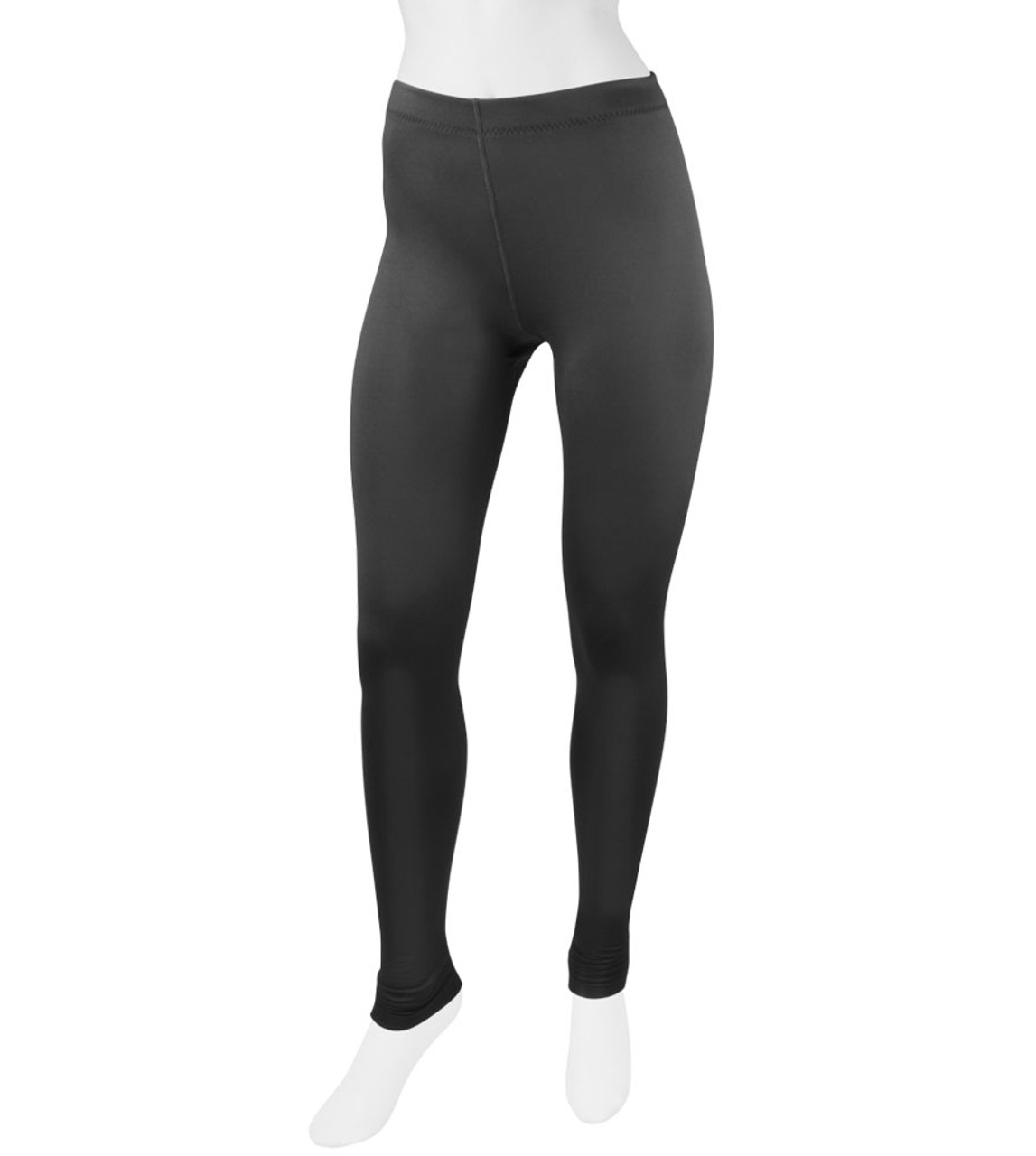 de807d7be7cf6 Women's Black Stretch Fleece Workout Legging Tights - Made in USA
