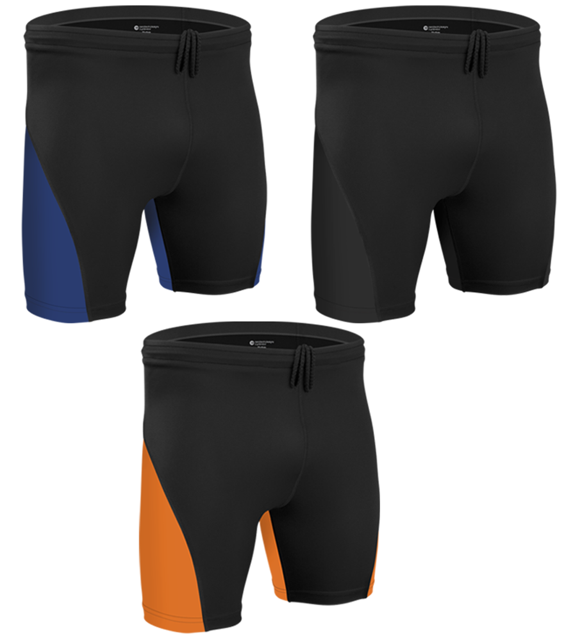 More Mile Active 9 Inch Mens Running Shorts Black Exercise Training Sports Short