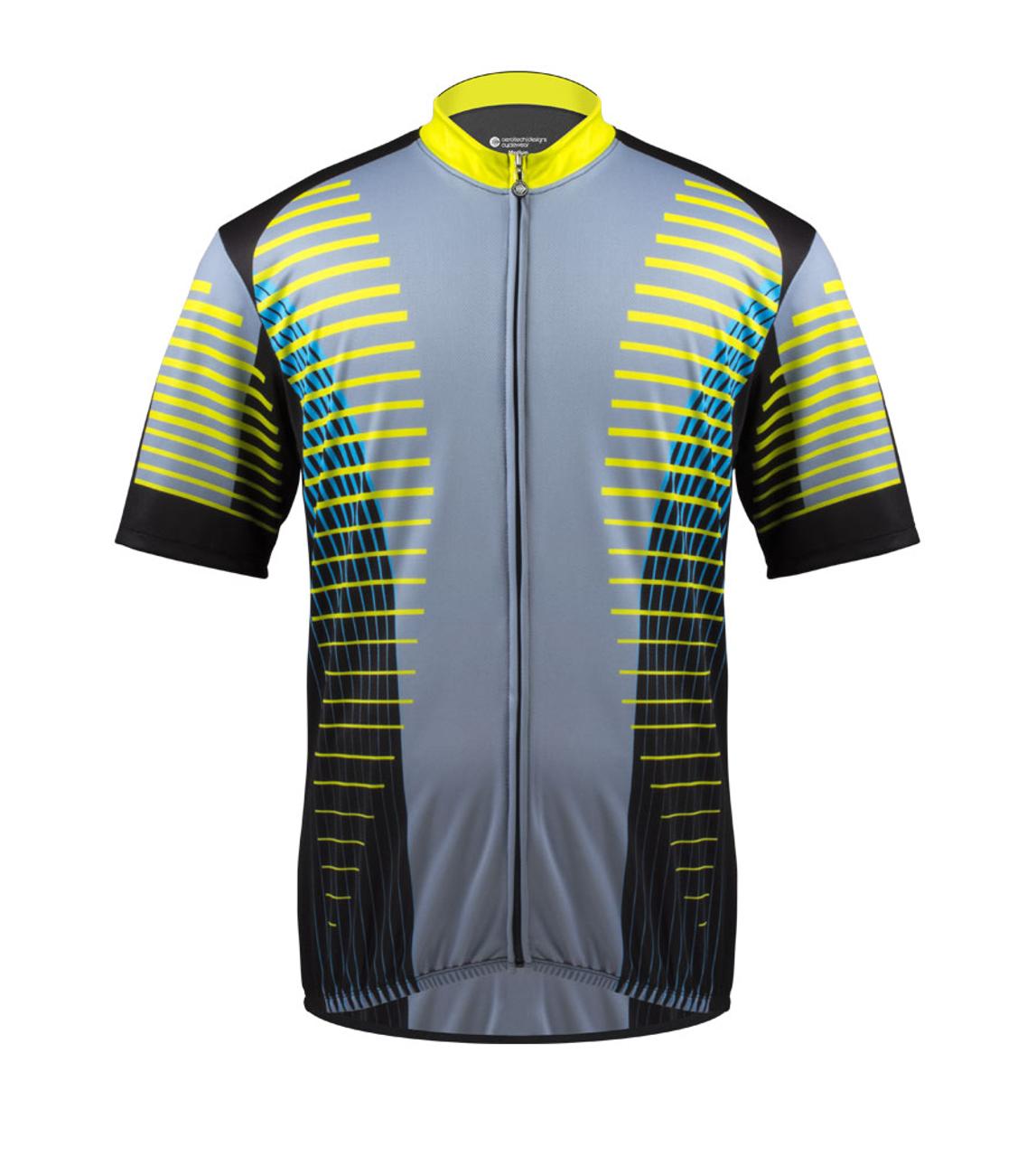 Coolmax Cycling Jersey Top Men/'s Reflective Bike Bicycle Jersey Shirts S-5XL