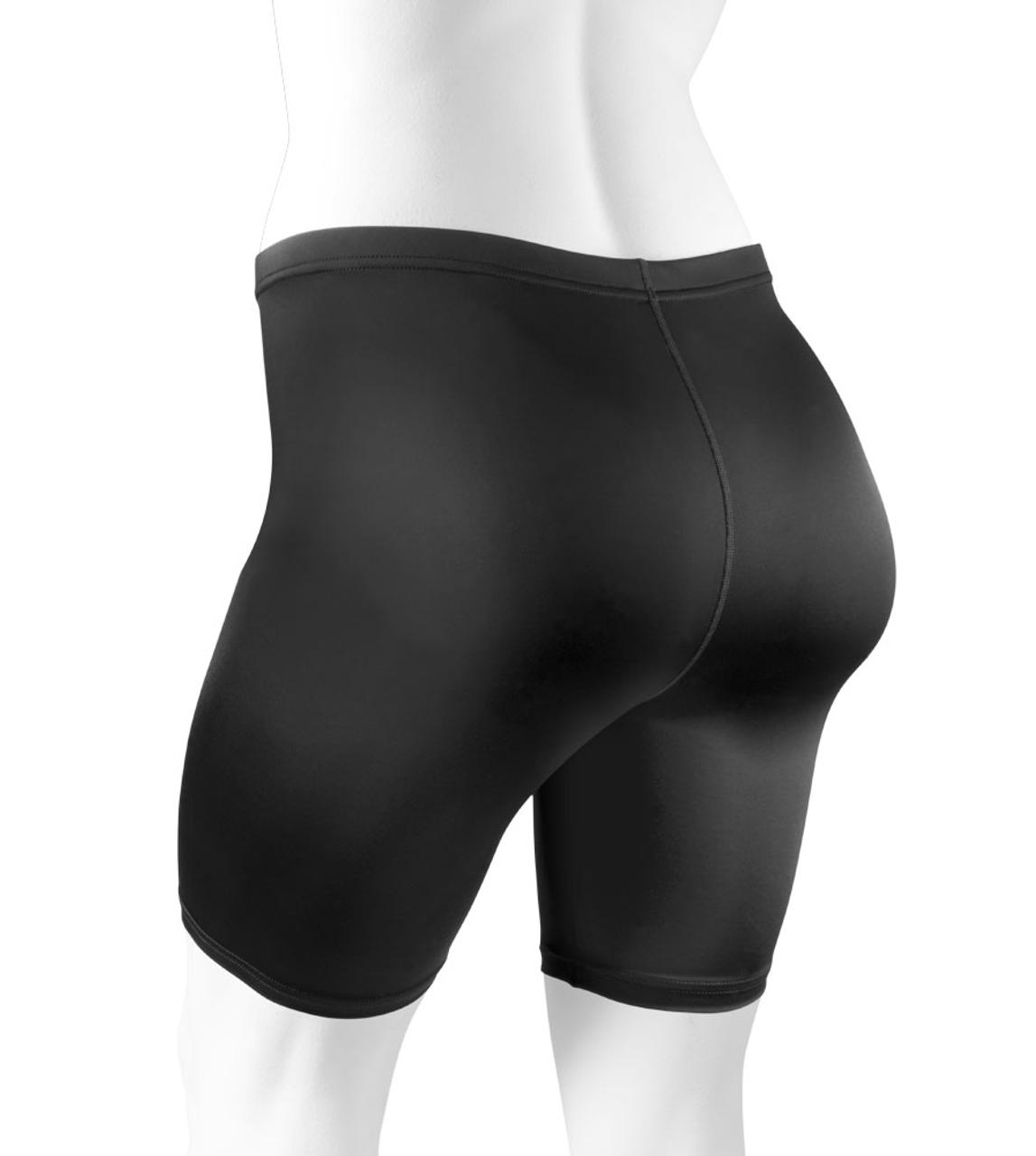 23a7296c293 Plus Size Women s Classic Unpadded Compression Workout Short Black Back
