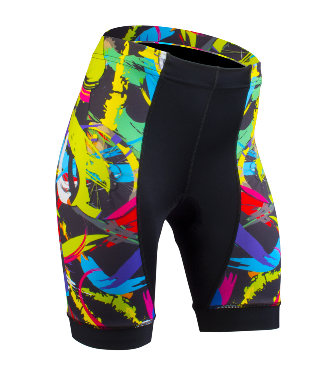 Women s Empress Shorts Print Bike Shorts Wild and Colorful Hide a Rider  Design Front 140b3d927