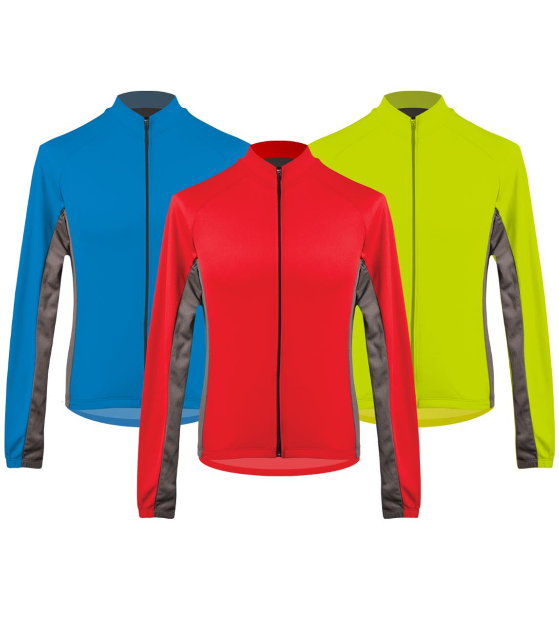 593d1495d Aero Tech Men s Whistler Long Sleeve Fleece Cycling Jersey Icon