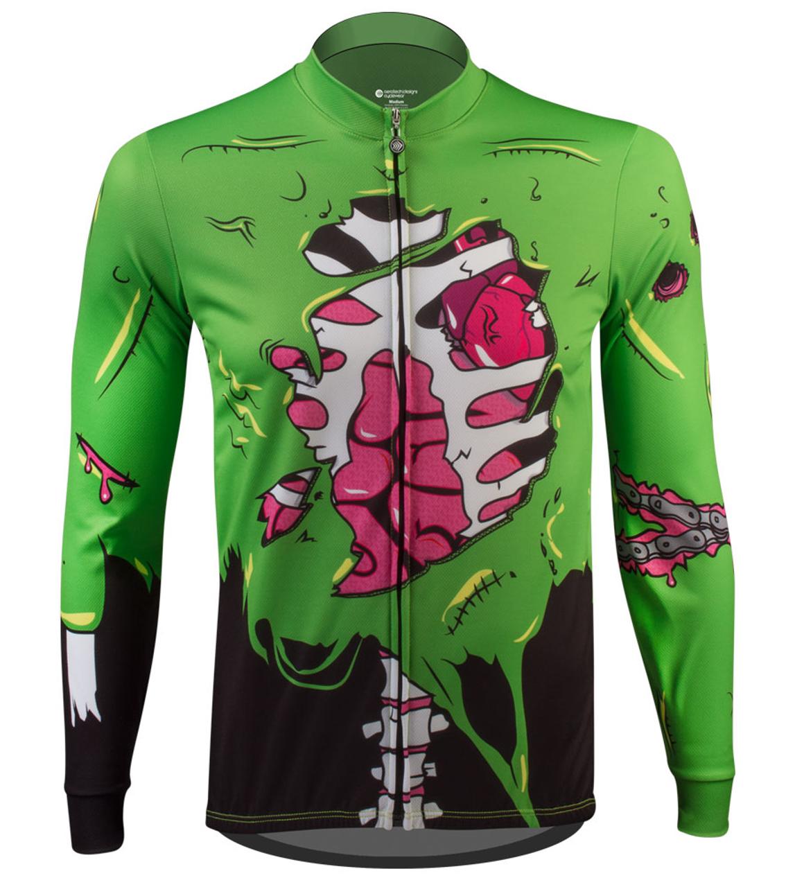 0eaf1ffee Aero Tech Halloween Long Sleeve Zombie Cycling Jersey Front View