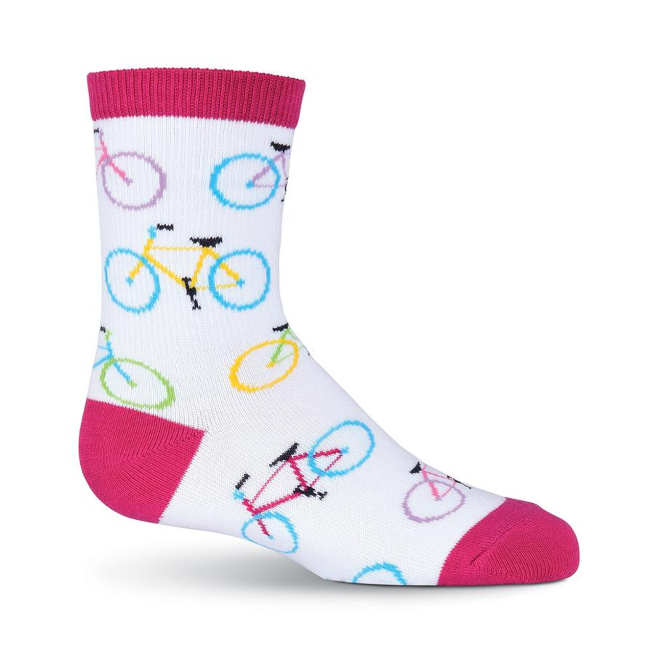 Bicycle Print Socks for Children - Bright Colored and Fun Cycle Sock