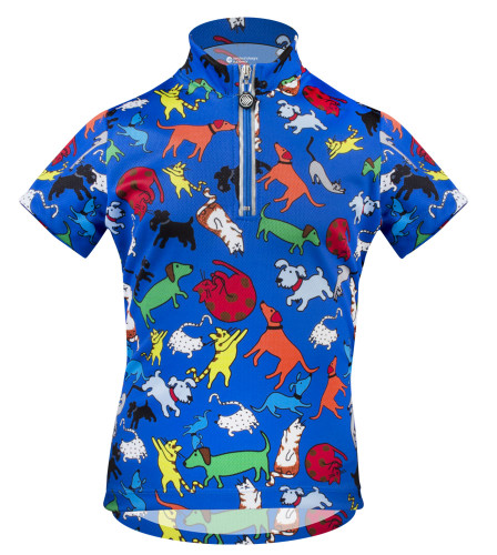 Aero Tech Youth Designer Cycling Jersey - It s Raining Cats and Dogs BLUE df9e88f1d
