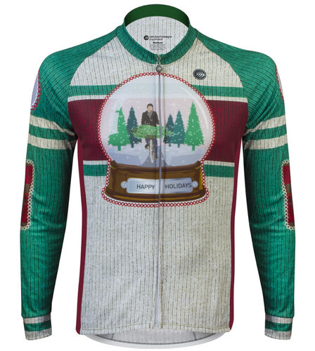 Aero Tech Peloton Long Sleeve Jersey - 2017 Holiday Jersey - Brushed Fleece 2d831ccee