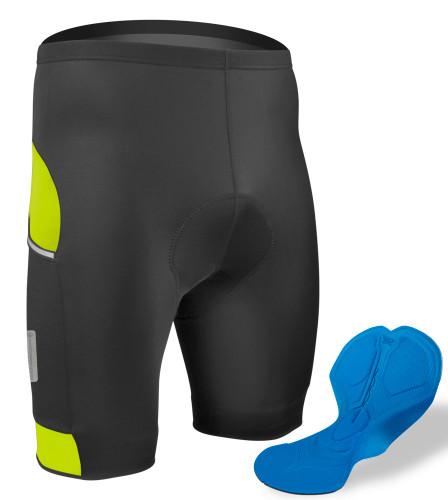 Logic Mens Cycling Shorts Padded Lycra Pants Bike Bicycle Tight Fit Racing MTB