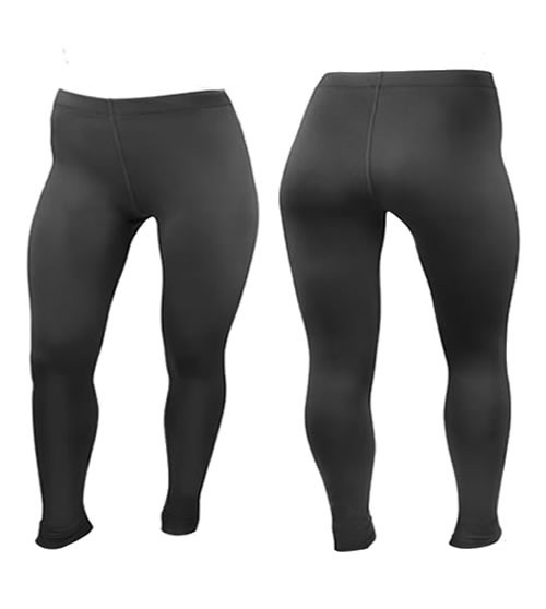 Women's Plus Size PADDED Cycling Tights in Black Stretchy Spandex