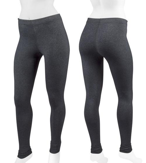 Aero Tech Women's Heather Supplex UNPADDED  Lycra Tights - Leggings for Cycling | Running | Yoga | Workouts