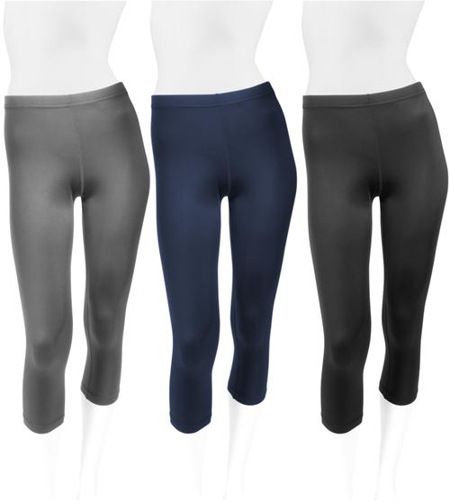 Women's Spandex Workout Capri Unpadded Plus Size All Colors