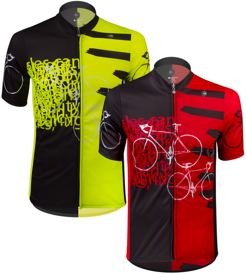 Aero Tech TALL Men s Sprint Jersey - Expressions - Red Safety Yellow - Cycling  Jersey Made in USA 17f9d0259