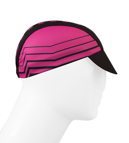 Rush Cycling Caps Pink Checkers Made In Usa By Aero