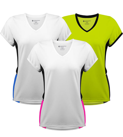 Aero Tech Women's Luna Athletic Tee w pockets Made in USA