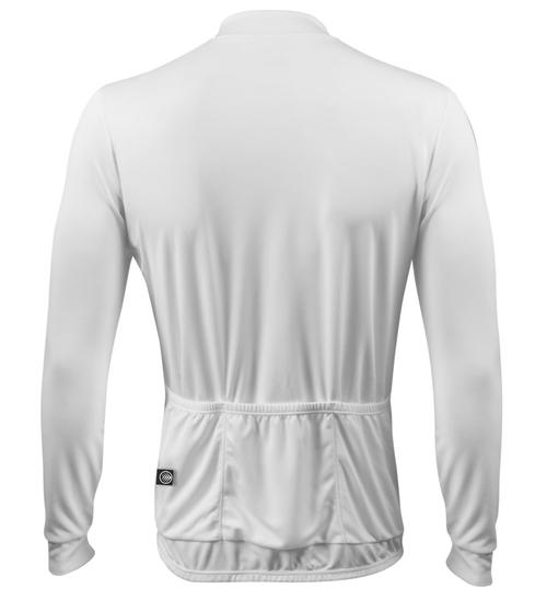 ... Front  Aero Tech Wicking Long Sleeve Cycling Jersey White Back ... 622eda96f